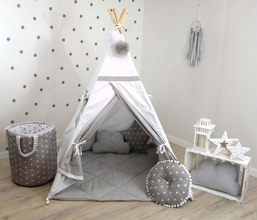 Teepee stan DOTS WHITE