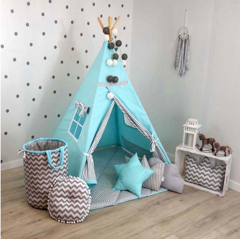 Teepee stan LINES TURQUOISE
